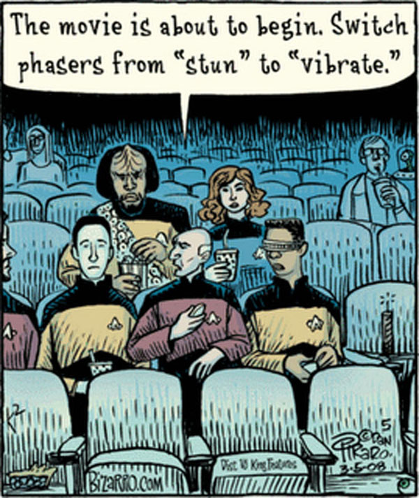 Switch phasers from stun to vibrate...