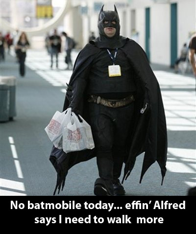 No batmobile today... effin
