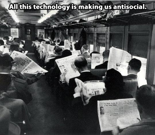 All this technology is making us anti-social...
