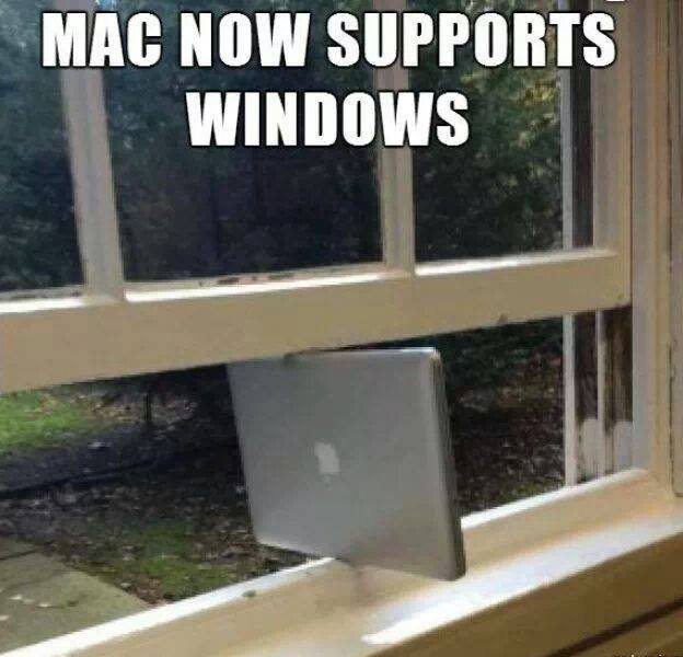 Mac now supports Windows...