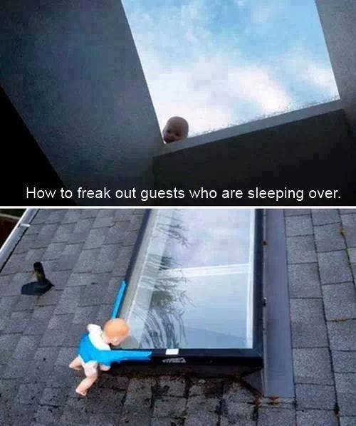 How to freak out guests that are sleeping over...