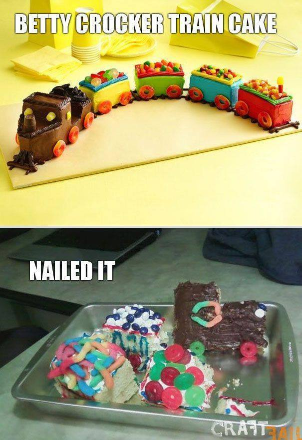 Betty Crocker Train Cake... Nailed it!