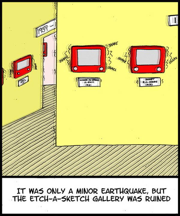 Disaster at the Etch-a-Sketch Gallery!